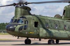 荷兰皇家空军Koninklijke Luchtmacht波音CH-47D契努克族有双发动机的抬举费力的军用直升机D-101 免版税图库摄影
