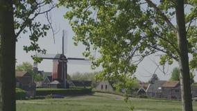 荷兰磨房荷兰西兰省 股票视频