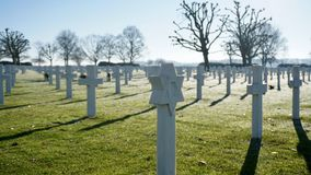 荷兰美国墓地 库存照片