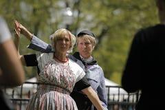 荷兰舞蹈家在荷兰密执安 免版税库存照片