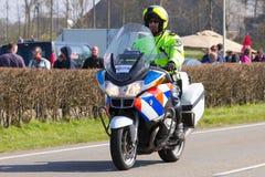 荷兰警察摩托车 免版税库存照片