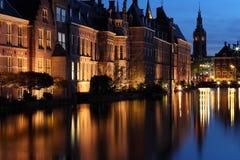 荷兰议会复合体的参议院大厦 免版税库存图片
