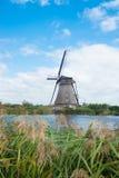 荷兰语传统风车 库存图片