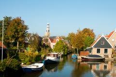 荷兰语典型的村庄 库存图片