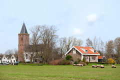 荷兰语典型的村庄 免版税库存照片