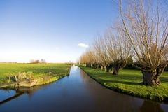 荷兰语农村风景 库存图片