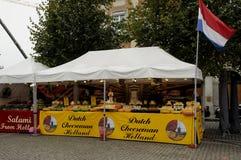 荷兰语奇斯曼和SAMAI食物立场 图库摄影