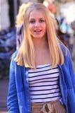 荷兰语女孩街道 免版税库存图片