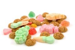 荷兰语姜螺母pepernoten典型的甜点 免版税库存照片