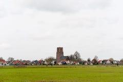荷兰语小的典型的村庄 免版税图库摄影
