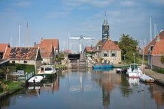 荷兰语捕鱼老沿海岸区村庄 库存照片