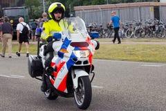 荷兰语摩托车警察 免版税图库摄影