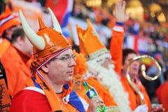 荷兰语最终匹配支持者注意 图库摄影