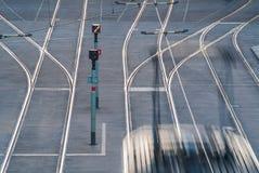 荷兰语电车在夜间 免版税库存图片