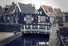 荷兰语老典型的村庄 库存照片