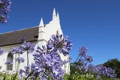 荷兰语被改革的教会在Franschoek,南非 免版税库存照片