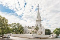 荷兰语被改革的教会Swartland在Malmesbury 免版税图库摄影