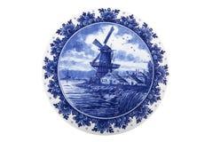 荷兰语被绘的牌照 免版税图库摄影