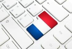 荷兰语言或荷兰网概念 国旗进入b 免版税库存图片