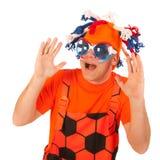荷兰语足球支持者 图库摄影