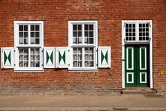 荷兰语门面有历史的季度 免版税库存图片