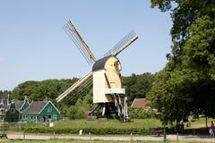荷兰语风景风车 库存照片