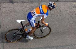 荷兰语骑自行车者Mollema Bauke 免版税库存照片