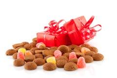 荷兰语pepernoten典型存在的甜点 免版税库存照片