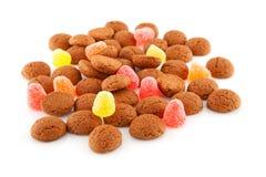 荷兰语pepernoten典型的甜点 免版税库存照片