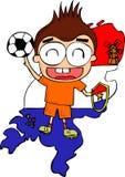 荷兰足球运动员 库存例证