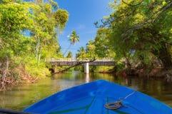 荷兰运河在Negombo 库存图片