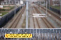 荷兰铁路 免版税库存图片