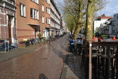 荷兰风景阿尔克马尔市 库存图片