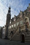 荷兰风景阿尔克马尔市 免版税图库摄影