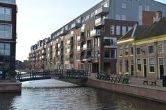荷兰风景阿尔克马尔市 免版税库存照片