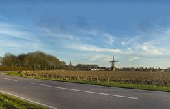 荷兰风车在荷兰 库存图片
