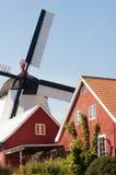 荷兰风车在Arsdale。 免版税图库摄影