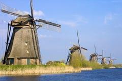荷兰风车 库存照片