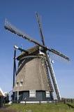 荷兰风车Noordermolen,村庄Akersloot 免版税库存图片