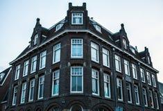 荷兰,乌得勒支- 2015年10月25日:传统欧洲建筑学 乌得勒支-荷兰 库存图片