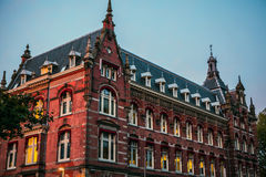 荷兰,乌得勒支- 2015年10月25日:传统欧洲建筑学 乌得勒支-荷兰 免版税图库摄影