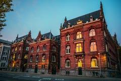 荷兰,乌得勒支- 2015年10月25日:传统欧洲建筑学 乌得勒支-荷兰 免版税库存图片