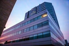 荷兰,乌得勒支- 2015年10月25日:现代城市建筑学 乌得勒支-荷兰 库存图片