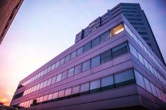 荷兰,乌得勒支- 2015年10月25日:现代城市建筑学 乌得勒支-荷兰 免版税库存照片
