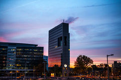 荷兰,乌得勒支- 2015年10月25日:现代城市建筑学 乌得勒支-荷兰 库存照片
