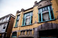 荷兰,哈莱姆- 2015年10月26日:传统欧洲建筑学 哈莱姆-荷兰 免版税图库摄影