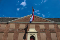 荷兰,荷兰,阿姆斯特丹的旗子 库存图片