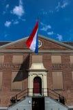 荷兰,荷兰,阿姆斯特丹的旗子 免版税库存照片