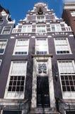 荷兰17世纪建筑学在阿姆斯特丹,荷兰 免版税库存照片