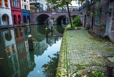 荷兰-乌得勒支- 2015年10月25日:传统欧洲建筑学 乌得勒支-荷兰 库存照片